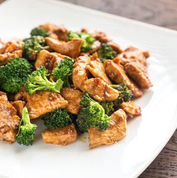 broccoli chicken - easy camping meals